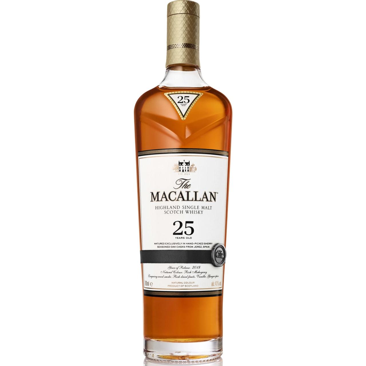 Product Image - The Macallan 25yo Sherry Single Malt