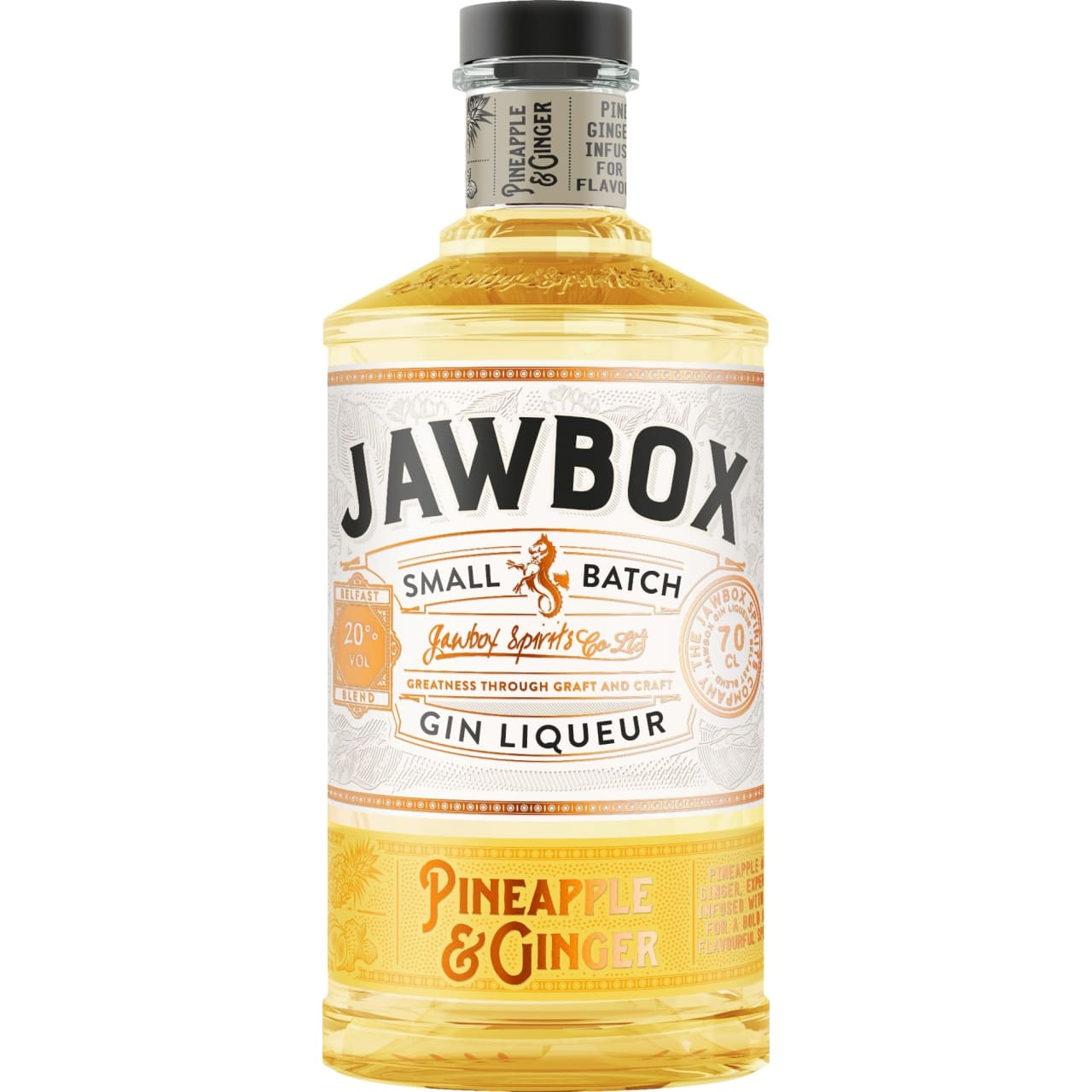 Product Image - Jawbox Pineapple & Ginger Gin Liqueur