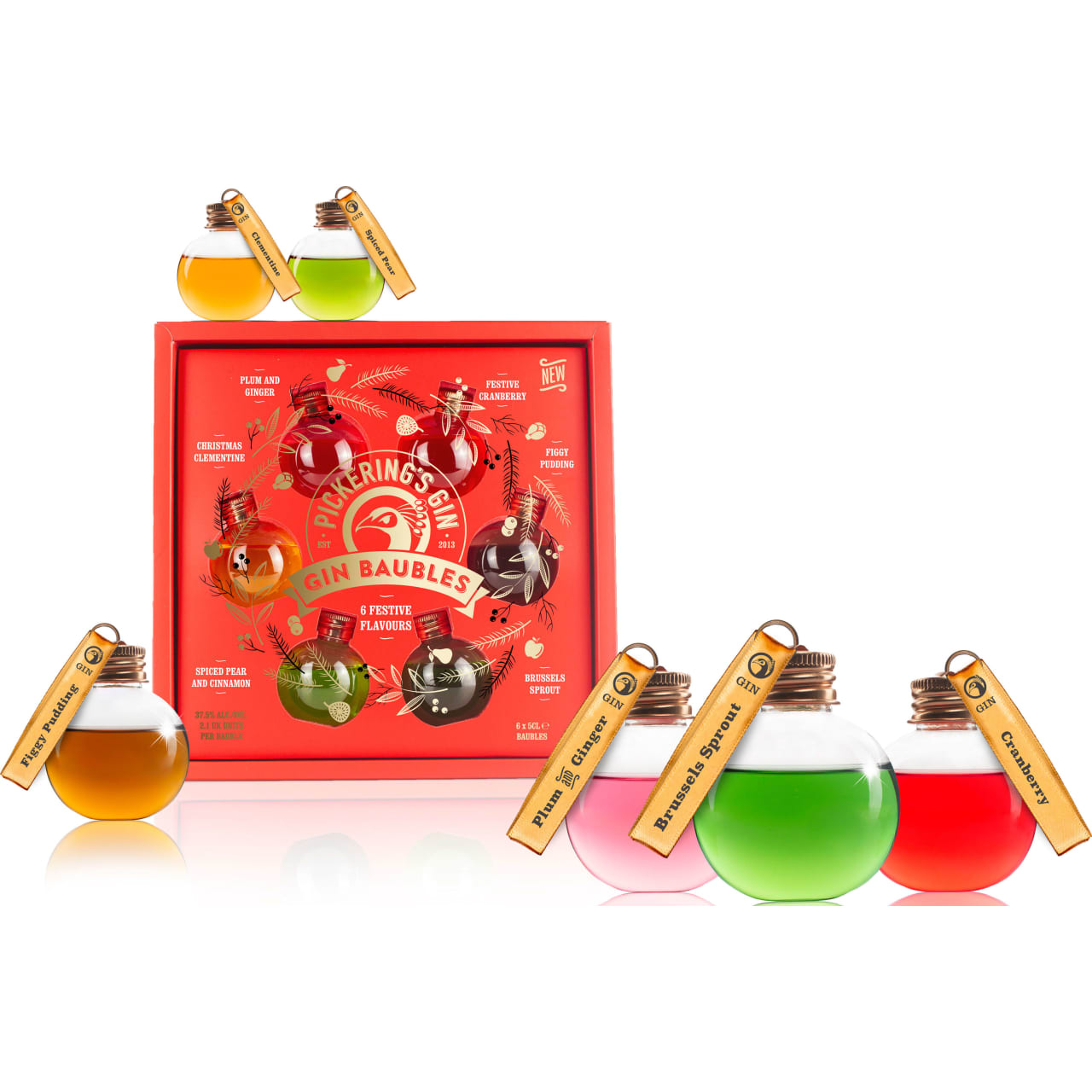 Product Image - Pickering's Festively Flavoured Gin Baubles