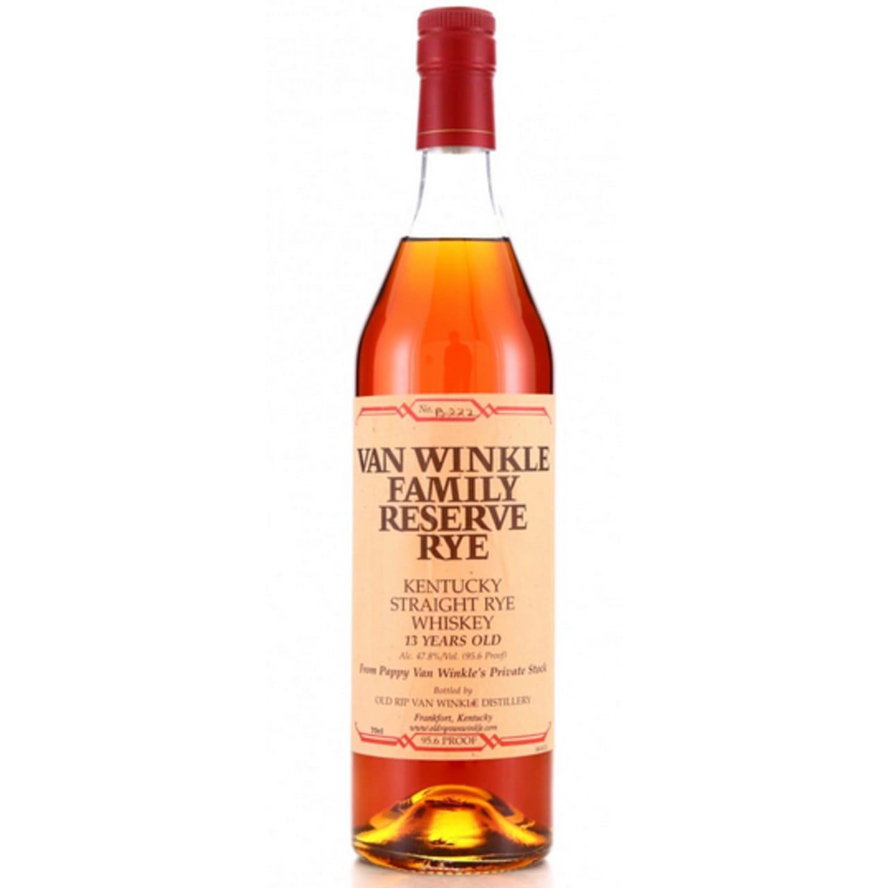 Product Image - Van Winkle Family Reserve 13yo Rye Whiskey