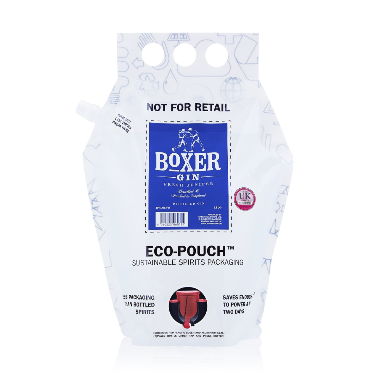 Product Image - Boxer Gin Refill Pack 2.8L