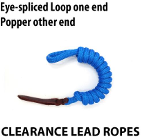 Clearance Lead Ropes  - Eye Spliced Loop