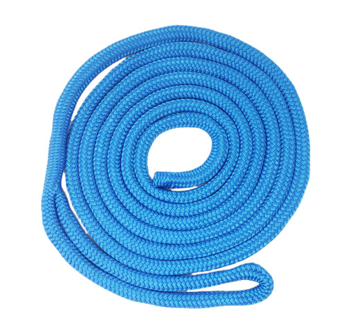 "Double Braid ""Yacht Braid"" Nylon Dock Line  in Blue"