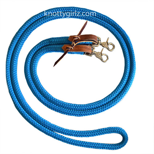 Knotty Girlz Natural Horsemanship Loop Sport Reins Yacht braid Samson EQ Braid  waterstraps and snaps