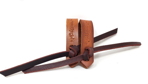 Harness leather water loops/straps with latigo ties