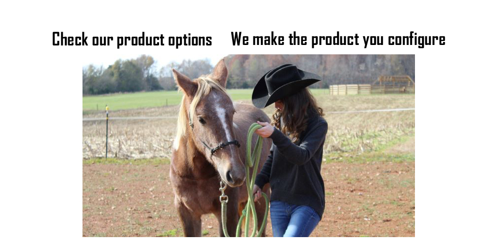 Configurable equestrian products