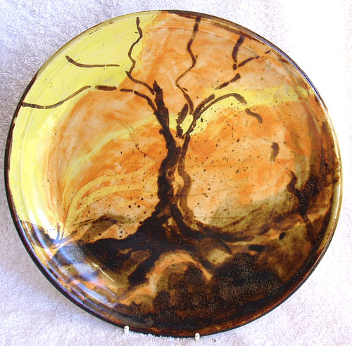 Handcrafted Pottery 10 inch display plate
