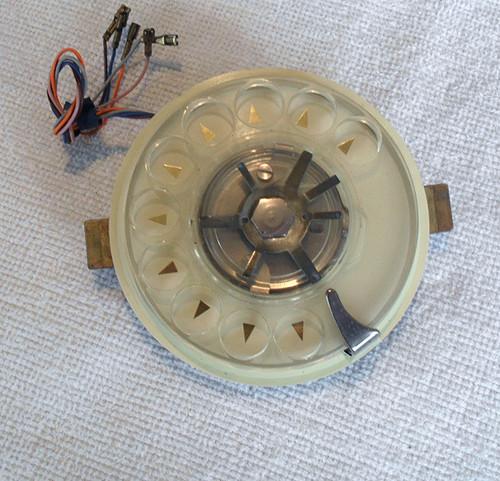 STC ROTARY TELEPHONE DIAL - Metal Plastic hybrid PMG 801 (1969)