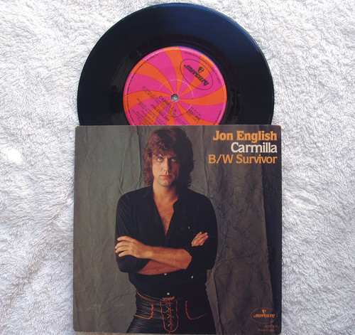 "Pop Rock - Jon English Carmilla 7"" SIGNED Vinyl 1980"