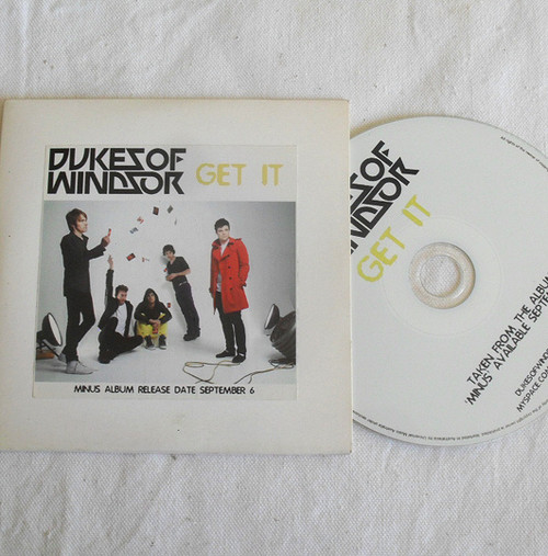 Electro Pop Rock - DUKES OF WINDSOR Get It Promotional CD (Card Sleeve) 2008