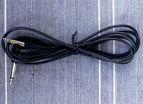 """INSTRUMENT LEAD (1/4"""" Jack Straight to 1/4"""" Jack Right Angle 3 metre) NEW"""