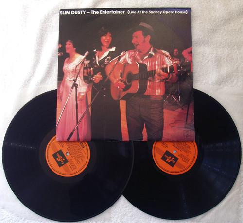 Country Folk - Slim Dusty The Entertainer 2x Vinyl 1978