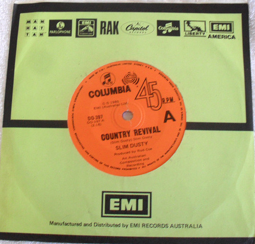 "Folk Country - Slim Dusty (& family) Country Revival Vinyl 7"" 1980"