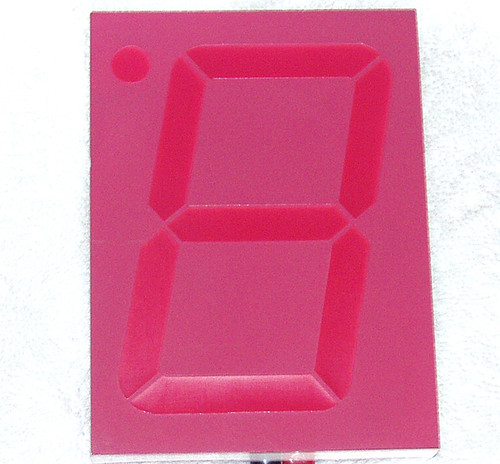 12cm x 9cm (Large!)  7 Segment LED Common Cathode LED display (Red)