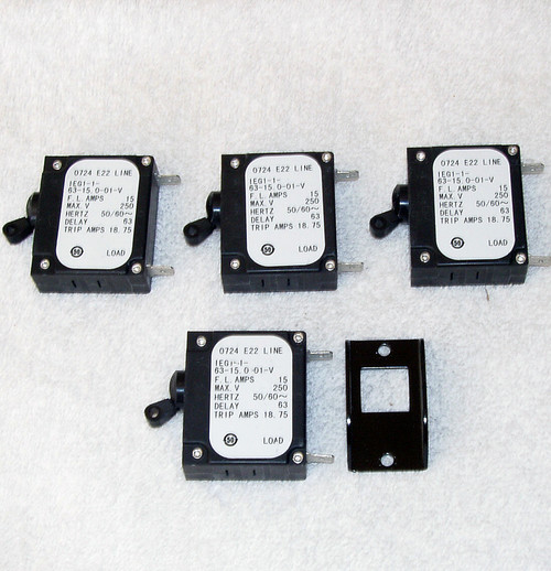 AIRPAX High Current Circuit Breakers 15A 250V AC Rated