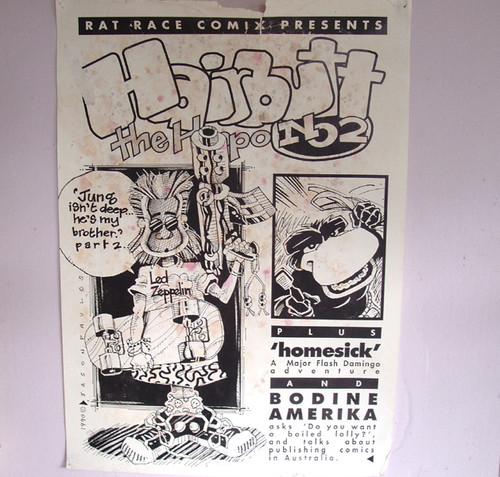 Australian Cartoonist - JASON PAULOS Posters (4)  HAIRBUTT THE HIPPO