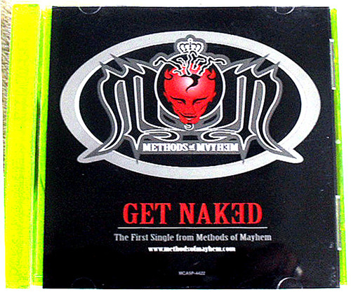 Pop Rap - METHODS OF MAYHEM (Tommy Lee) Get Naked CD Promo Single 1999