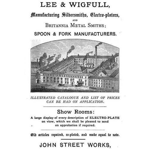 Victorian Silverplate Lee & Wigfull Coffee & Tea Pots & Tea Caddy Pre 1899