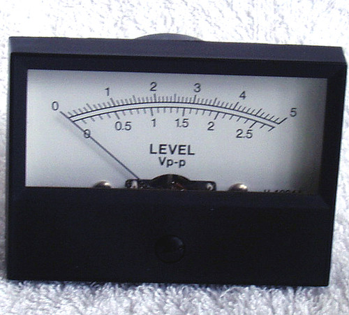 1970's Japanese Analog 100uA Moving Coil Panel Meter