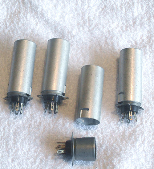 VINTAGE Valve Socket (7 pin) Complete With Locking Shield NEW