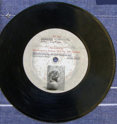 Radio 2GB Acetate Broadcast record 1970 (Horse Race Call)