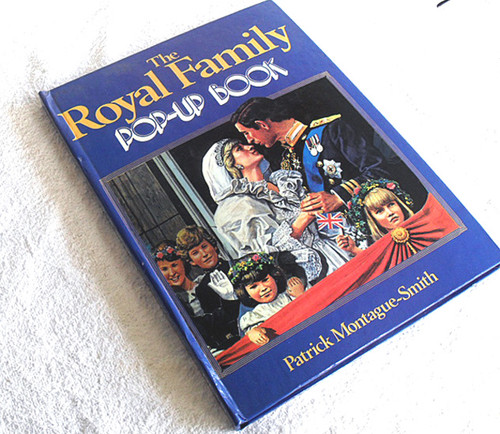 "Diecut ""Pop Up"" Engineered Book - THE ROYAL FAMILY 1984"