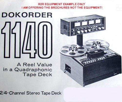 "Promotional Print - DOKORDER 1/4"" Quadraphonic Reel To Reel Tape Machine"