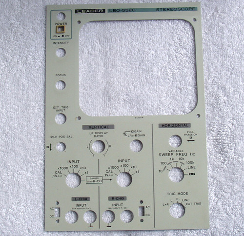 Spare Part -  LEADER LBO-552C Stereoscope (Front Panel)