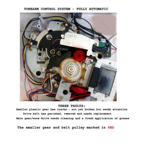 1980-81 TECHNICS SL-D33 Turntable Arm Drive System