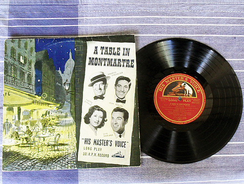 "1950's 10"" Flexible Vinyl - A Table In Montmartre  Compilation"