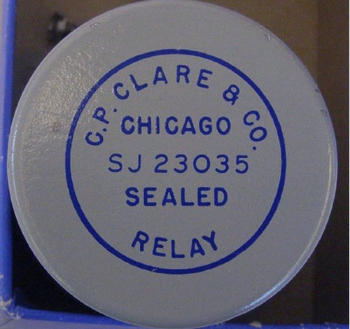 CP CLARE Sealed Relay SJ23035 (Probably Vintage Ampex Tape Machine)