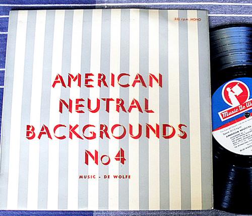"Orchestral Instrumental - HUGO DE GROOTE American Neutral #4 10"" Vinyl 1966"