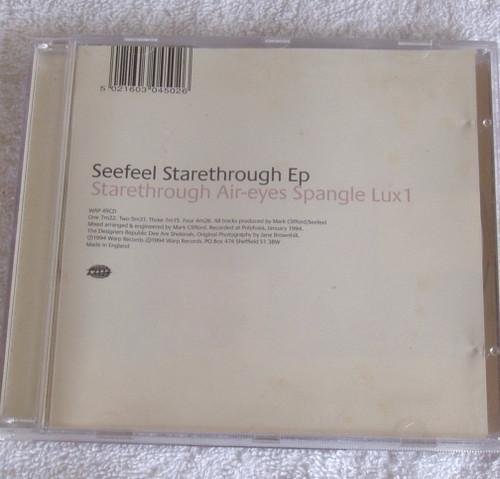 Ambient Dub IDM Abstract - SEEFEEL Starethrough CD EP 1994
