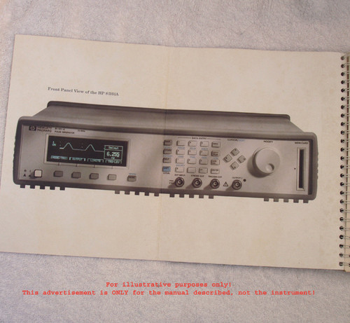 ORIGINAL HEWLETT PACKARD  81101A Pulse Generator Reference Guide