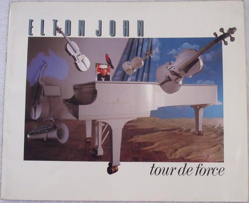 """Concert Tour Guide - Elton John """"Tour De Force"""" 1986"""