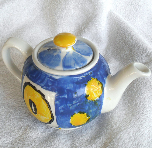 James Sadler Hand Painted 1 cup Tea Pot (Circa 1947 onwards)