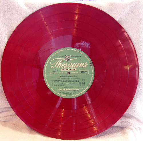 Love that red vinyl - and much heavier weight than the black