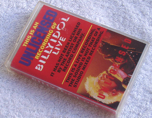 Pop Rock - Billy Idol Live SW UNLICENSED Cassette Early 1990's