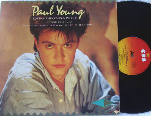 Synth Pop Rock - Paul Young Love Of The Common People Vinyl 1983