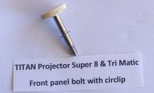 TITAN 8mm Film Projector PART - Front Panel Bolt (White Knob)