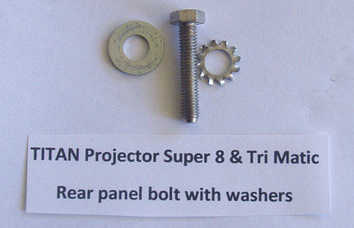 TITAN 8mm Film Projector PART - Rear Panel Bolt & Washers