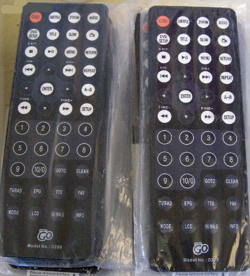 OMNI Portable DVD (Model: D260) REMOTE CONTROL Only (NEW)