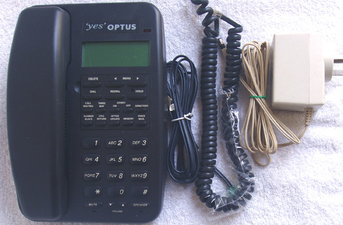 OPTUS Domestic Handsfree Wall Mount/Desk Home Telephone