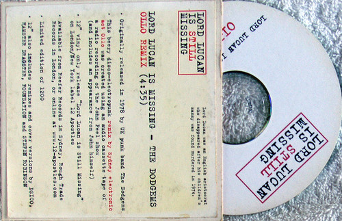 Electro Punk Disco - THE DODGEMS Lord Lucan Is Missing (Ollo Remix) CD Single (Card Sleeve) 2006