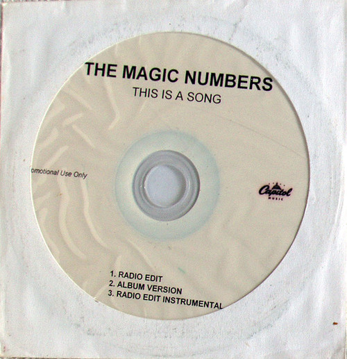 Pop Rock - THE MAGIC NUMBERS This Is A Song Promotional CD Single (Paper Sleeve)