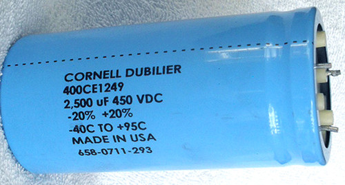 CORNELL DUBILIER (USA) High Voltage Electrolytic Capacitor 2500uF 45OV