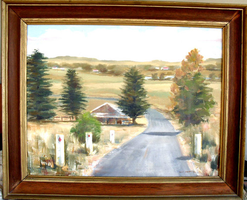 Australian Oil Landscape - BUNDANOON by RAY DAVIES 1974