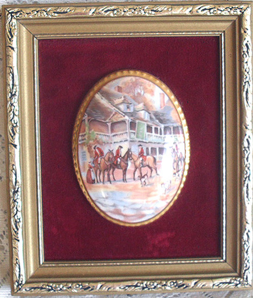 HARLEY CHINA (Staffordshire UK)  English Country Scene Wall Plaque