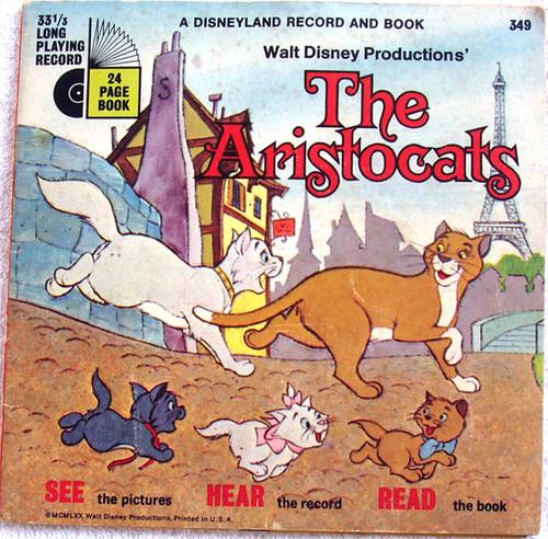 "Childrens Read & Hear - DISNEYLAND The Aristocrats Book 7"" Vinyl 1970"