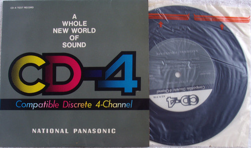 "NATIONAL PANASONIC CD-4 Quad Sound System Test 7"" Vinyl 1970's"